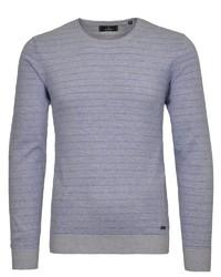 hellblauer Pullover mit einem Rundhalsausschnitt von RAGMAN