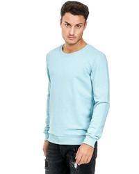 hellblauer Pullover mit einem Rundhalsausschnitt von Redbridge