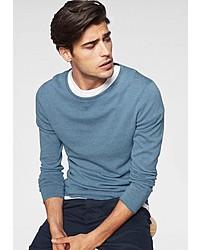 hellblauer Pullover mit einem Rundhalsausschnitt von Tom Tailor Denim