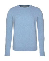 hellblauer Pullover mit einem Rundhalsausschnitt von Tom Tailor