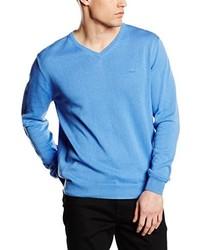 hellblauer Pullover mit einem V-Ausschnitt von Cortefiel