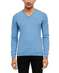 hellblauer Pullover mit einem V-Ausschnitt von s.Oliver