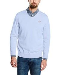 hellblauer Pullover mit einem V-Ausschnitt von Spagnolo