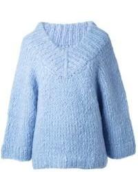 hellblauer Pullover