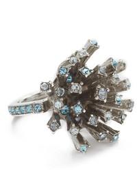 hellblauer Ring von Oscar de la Renta