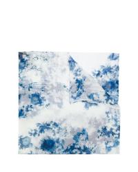 hellblauer Mit Batikmuster Schal von Avant Toi