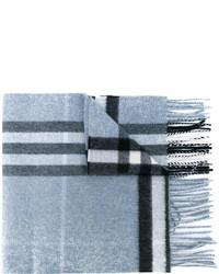 hellblauer Schal mit Karomuster von Burberry