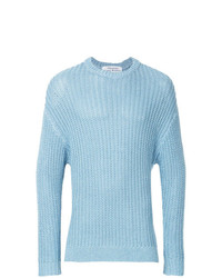 hellblauer Strickpullover von Education From Youngmachines