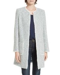 hellblauer Tweed Mantel