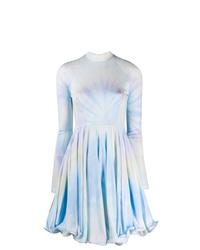 hellblaues Mit Batikmuster ausgestelltes Kleid von Stella McCartney