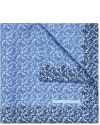 hellblaues bedrucktes Einstecktuch von Turnbull & Asser