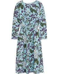 hellblaues bedrucktes Kleid von J.Crew