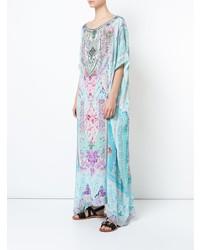 hellblaues bedrucktes Strandkleid von Camilla