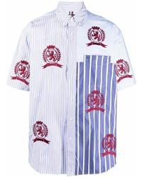 hellblaues besticktes Kurzarmhemd von Tommy Hilfiger