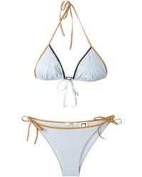 hellblaues Bikinioberteil von Fendi