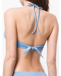 hellblaues Bikinioberteil von Mara Hoffman