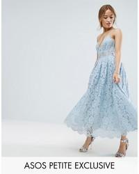 hellblaues Camisole-Kleid aus Spitze von Asos
