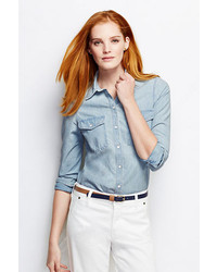 hellblaues Chambray Businesshemd