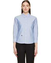hellblaues Chambray Businesshemd von Band Of Outsiders