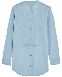 hellblaues Chambray Businesshemd von Equipment