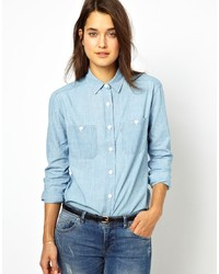 hellblaues Chambray Businesshemd von Jack Wills
