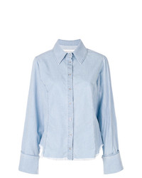 hellblaues Chambray Businesshemd von MARQUES ALMEIDA