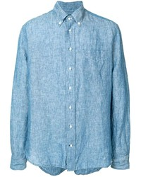 hellblaues Chambray Langarmhemd von Gitman Vintage