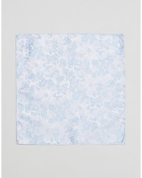 hellblaues Einstecktuch mit Blumenmuster von Asos