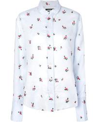hellblaues Hemd mit Blumenmuster von Isabel Marant