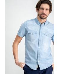 hellblaues Jeans Kurzarmhemd von GARCIA