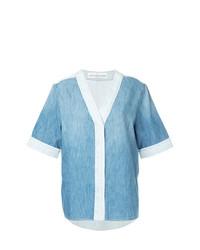 hellblaues Jeans Kurzarmhemd von Golden Goose Deluxe Brand