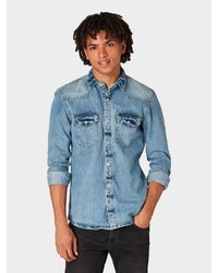 hellblaues Jeanshemd von Tom Tailor Denim