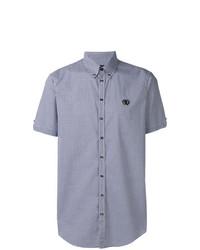 hellblaues Kurzarmhemd mit Karomuster von DSQUARED2