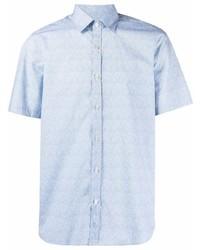hellblaues Kurzarmhemd von Canali