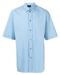 hellblaues Kurzarmhemd von Emporio Armani