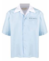 hellblaues Kurzarmhemd von Marni