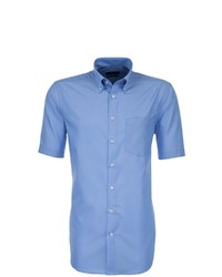 hellblaues Kurzarmhemd von Seidensticker