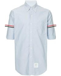 hellblaues Kurzarmhemd von Thom Browne