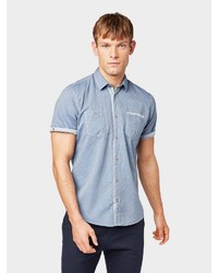 hellblaues Kurzarmhemd von Tom Tailor