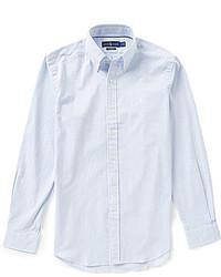 hellblaues Langarmhemd aus Seersucker
