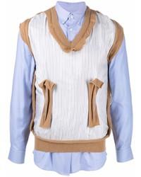 hellblaues Langarmhemd mit Flicken von Maison Margiela
