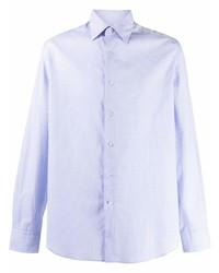 hellblaues Langarmhemd mit Karomuster von Lanvin