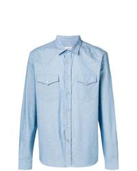 hellblaues Langarmhemd von AMI Alexandre Mattiussi
