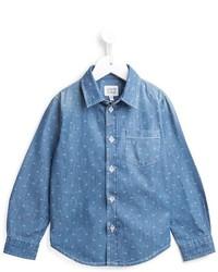 hellblaues Langarmhemd von Armani Junior