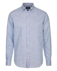 hellblaues Langarmhemd von Daniel Hechter