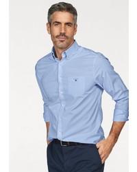 hellblaues Langarmhemd von Gant