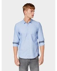 hellblaues Langarmhemd von Tom Tailor Denim