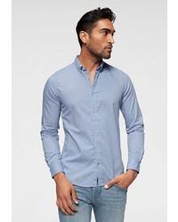 hellblaues Langarmhemd von Tom Tailor