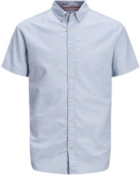 hellblaues Leinen Kurzarmhemd von Jack & Jones