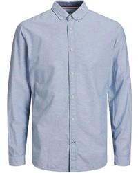 hellblaues Leinen Langarmhemd von Jack & Jones